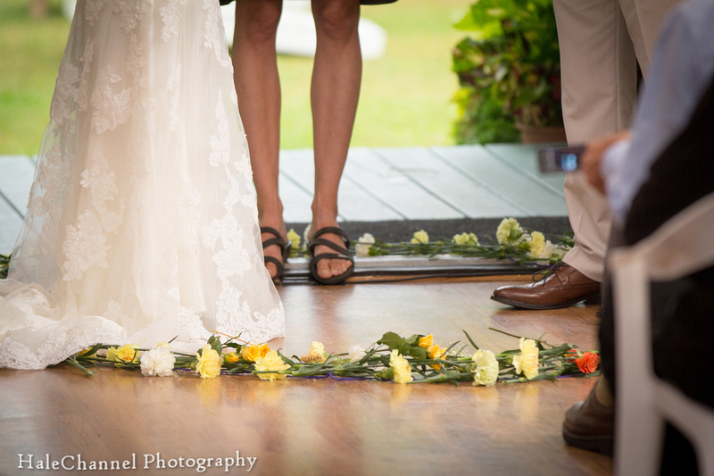 flower circle wedding ceremony